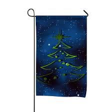 Designer Garden Flags Amazon Com Holiday Christmas Tree Blue Home Flag Designer