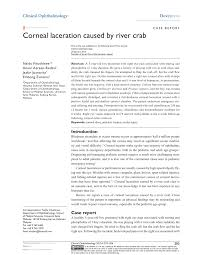 Pdf Corneal Laceration Caused By River Crab