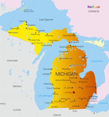 michigan maps  political physical cities and blank outline
