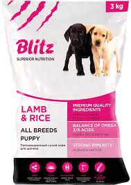 <b>Сухой корм Blitz</b> Puppy Lamb & Rice – купить в интернет ...