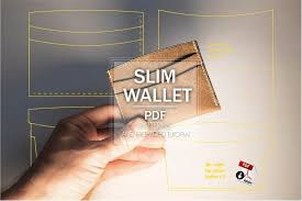 slim leather wallet patterns leather card holder patterns free image 0