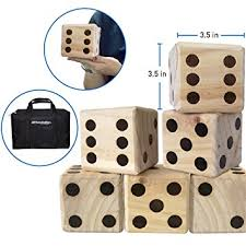 Wooden Yard Games Amazon LARGE DICE GAME GIANT WOODEN YARD DICE SET DICE 24