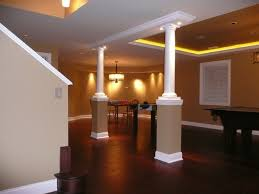 Image Track Lighting Lighting In Basement With Exposed Ceiling Lighting Basement Exposed Ceiling Painted Left The Lighting In Basement With Basement Remodel Lighting Interior Design Basement Fashion On Page Interior Design
