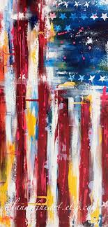american flag abstract painting abstract expressionism modern painting on canvas