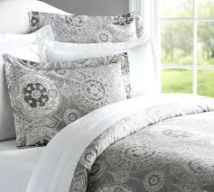 printed duvet cover sham gray pottery barn for and white insert with pottery barn white duvet