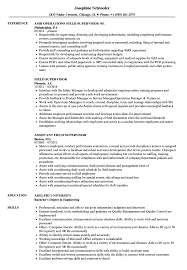12 13 Sample Resumes For Supervisor Position