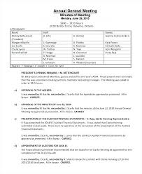 Annual Meeting Minutes Template Llc General Uk