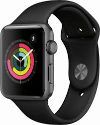 apple 3 watch. apple - watch series 3 (gps), 42mm space gray aluminum case with n
