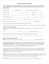 daycare contract family daycare contract after reading the daycare daycare contract template