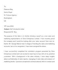 Introductory Letter Self Introductory Letter Introduction Email Sample To Colleague