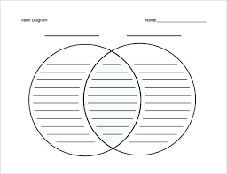 Venn Diagram Editable Diagram With Lines Free Printable Venn Diagrams Template Blank Line