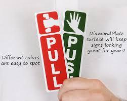 push pull door signs push pull brass door plate diamondplate push pull signs