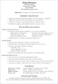 Medical Assistant Resume Templates Examples Of Medical Assistant ...
