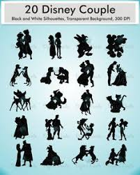 Small Picture Disney Couples Silhouettes ArielEric BelleBeast MickeyMinnie