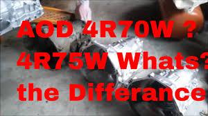 Transmission Parts Id Aod Aode 4r70w 4r75w 7 Cases Episode 010