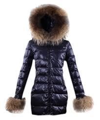 Moncler Mari Women Coat Euramerican Style Dark Blue  dfc8