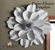How To Make Paper Flower Backdrop Paper Flower Template Diy Paper Flower Diy Backdrop Paper Etsy