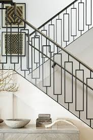 chic modern wrought iron railing for a stylish home