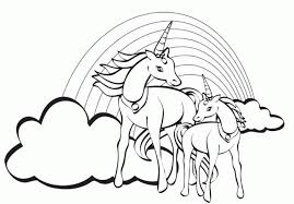 Small Picture Unicorn Rainbow Coloring Pages Coloring Home