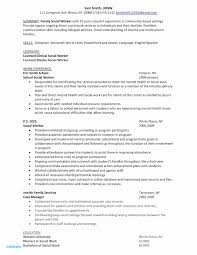 Examples Of Social Work Resumes Social Worker Resume Template Lovely