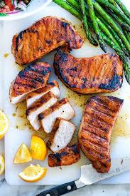 the best juicy grilled pork chops