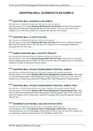 Retail Business Plan Outline Business Plan Sample Pdf Retail Retailstorebusinessplanpng Retail