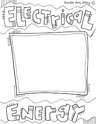 Energy Coloring Pages Energy Coloring Pages Free Printable Kids