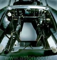 aston martin assembly all of the engine bay components are fitted in advance of the engine being installed excepting
