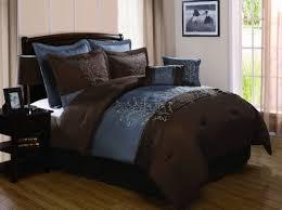 Dark Blue Brown Bedroom