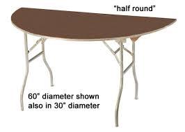 60 diameter half round table 60