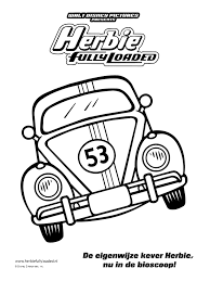 Kleurplaat Herbie Fully Loaded Kleurplatennl Coloring