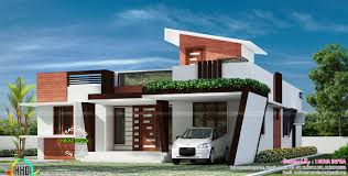1653 sq ft contemporary one floor house kerala home one floor house design
