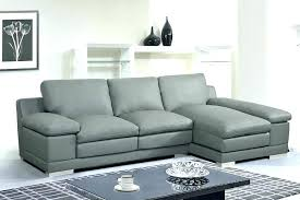 side grey leather sectional chaise with reclers