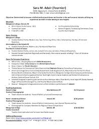 Modern Dance Resume Dance Resume