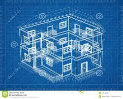 House Plan And Design Blueprint House Architect Design Blueprint Stock Illustration