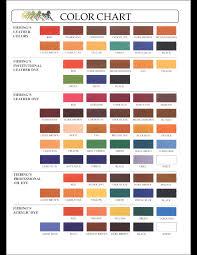 Tarrago Dye Color Chart Fiebings Leather Dye Colour Chart