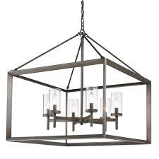 golden lighting 2073 6 gmt smyth 6 light chandelier in metal bronze