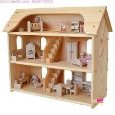 Thích thú với đồ chơi mô hình nhà gỗ đáng yêu cho bé gái - Thế Giới Đồ Gỗ Cho  Bé
