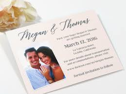 Announcement Cards Wedding Save The Date Wedding Announcement Cards Traditional Or Destination Wedding Printed With Envelopes