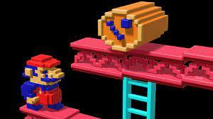 Retro 3D Mario Video Game Desktop ...