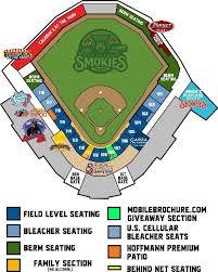Smokies Baseball Stadium Seating Chart 2018 Tennessee Smokies Baseball Vs Jackson Generals On 8 19