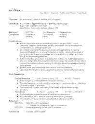 Resume Template With Objective Sample Welder Resume Templates Template Similar Resumes Spacesheep Co