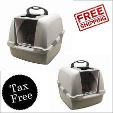 hagen catit hooded cat litter box. Hagen CatIt Jumbo Hooded Cat Litter Box Large Hood For Multi Household NEW Catit L