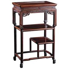 Asian Display Stands Qing Dynasty Chinese Rosewood Occasional Table Qing dynasty 67