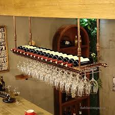 european style iron hanging wine glass rack wine rack ceiling decoration shelf for bars restaurants