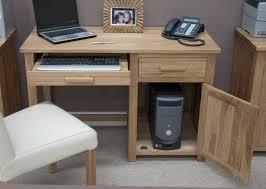 Small Computer Desk Oak