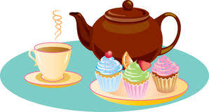 tea clipart. Modren Tea Afternoon Tea With Sugar Iced Cupcakes And A Hot Refreshing Cup Of Tea  Royalty Free Throughout Tea Clipart I