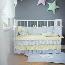 crib bedding grey yellow baby bed sets moonlight handmade nursery gingham and elephant