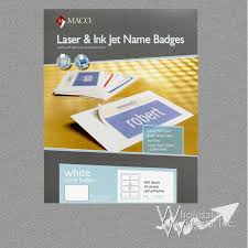 Avery 5395 Name Badges Maco Ml7000 Badge Labels For Use In 2 1 3 X 3 3 8 Name Badge Labels