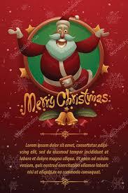 red christmas card red christmas card cute santa claus jumping stockvektor